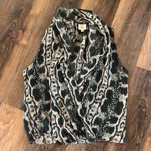 Parker 100% silk snake print top